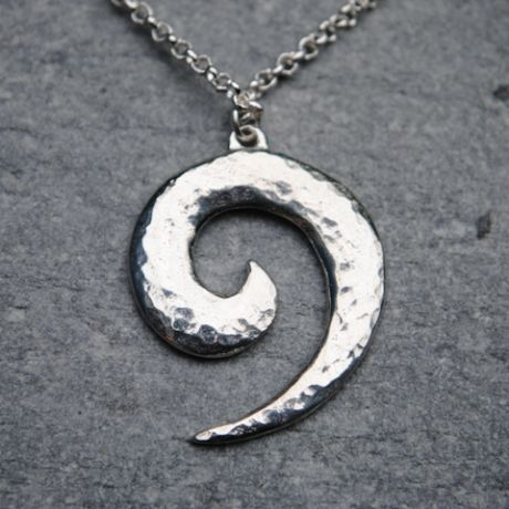 Wave spiral pendant P52